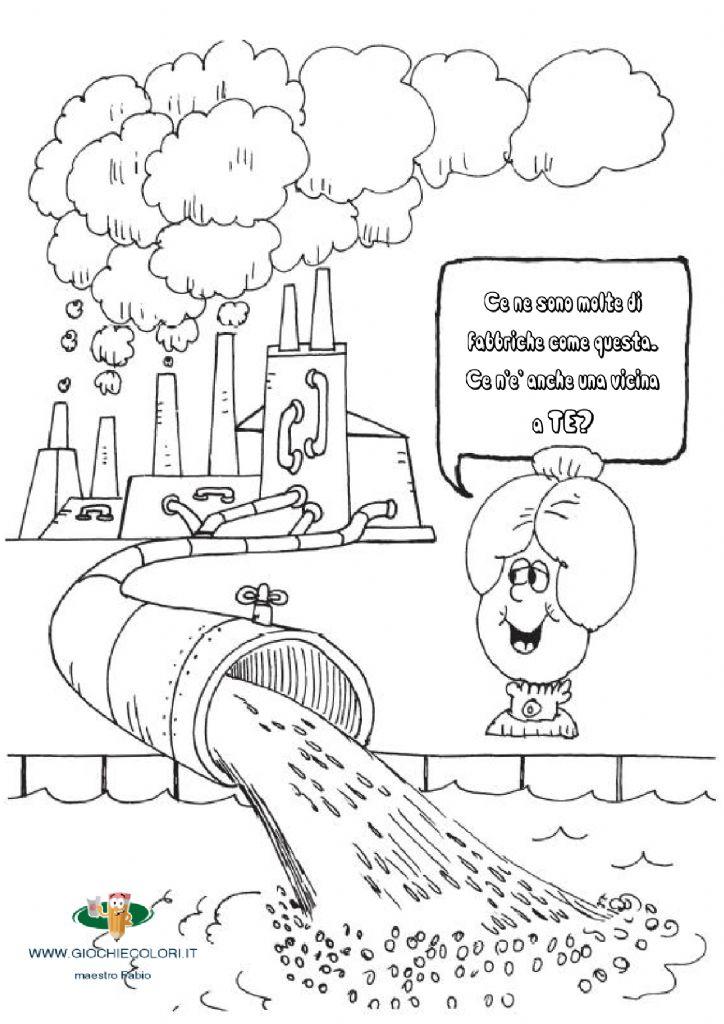 Libro Da Colorare Inquinamento Wwwgiochiecoloriit Sfogliamiit