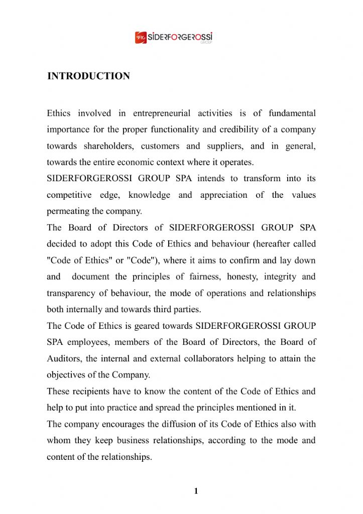 Code of ethics siderforgerossi full page view pronofoot35fo Choice Image
