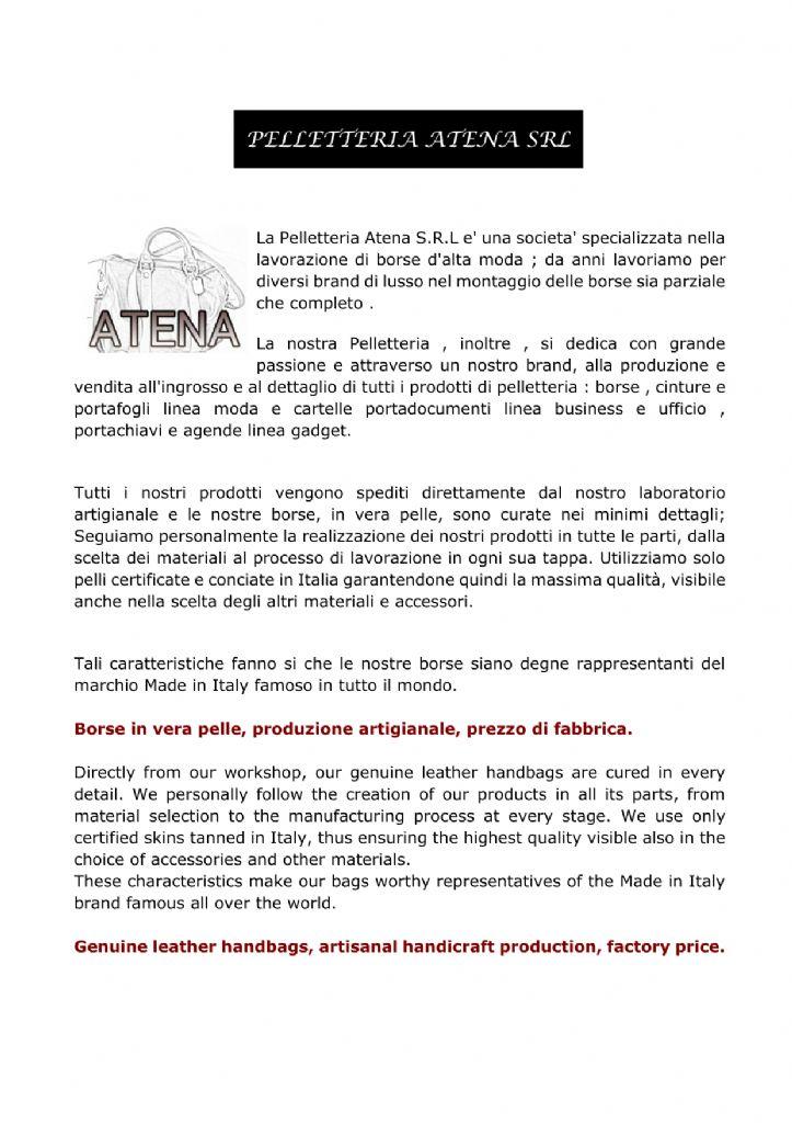 9b13743b54 CATALOGO SFOGLIABILE PELLETTERIA ATENA - Sfogliami.it